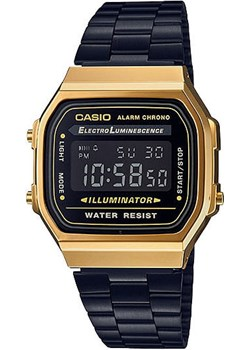 Zegarek Casio A168WEGB-1BEF Retro  Casio Retro okazja zegaryzegarki.pl  - kod rabatowy