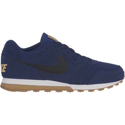 Buty sportowe męskie niebieskie Nike zamszowe wiązane
