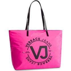 183ccc60d2401 Shopper bag Versace Jeans na ramię bez dodatków duża z nadrukiem młodzieżowa