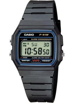 Zegarek Casio F-91W-1YER Retro Style Casio Retro  okazja zegaryzegarki.pl  - kod rabatowy