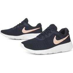 8bce60c2 Buty sportowe damskie Nike tanjun sznurowane granatowe bez wzorów