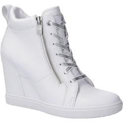 577ff37ccaa72 Sneakersy damskie Tommy Hilfiger wiosenne bez wzorów na koturnie