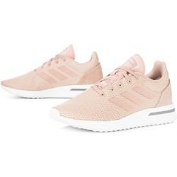 39becd5c0 Buty sportowe damskie Adidas do biegania na płaskiej podeszwie wiązane bez  wzorów