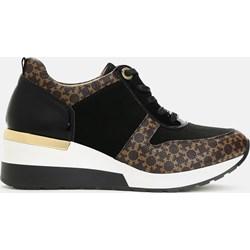 c3f074a764dbb Brązowa sneakersy damskie na koturnie, lato 2019 w Domodi