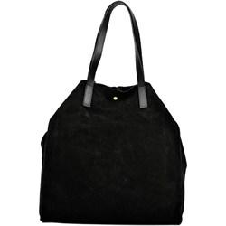e3ad9d334e1c4 Carla Ferreri shopper bag bez dodatków skórzana elegancka