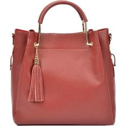 8e15e564a7fe2 Shopper bag czerwona Carla Ferreri duża skórzana