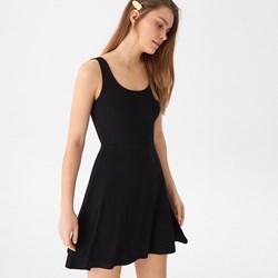 2b62dcd852 Sukienka czarna House mini bez rękawów asymetryczna