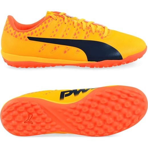 Pomarańczowe buty puma sznurowane dla chłopców