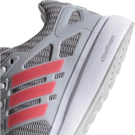 Buty sportowe damskie szare Adidas do biegania bez wzorów płaskie
