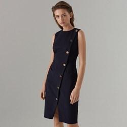 8ea9a5cb3343 Mohito sukienka czarna dopasowana