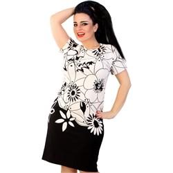 d8dd50f48a3c1 Sukienka Lamar trapezowa z krótkimi rękawami wielokolorowa na co dzień mini  na wiosnę