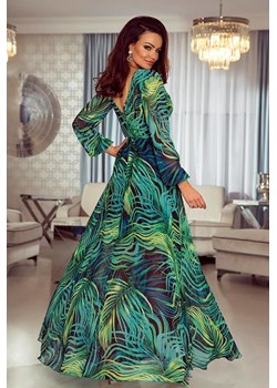 LINDA- Sukienka długa Maxi- liście  Emo Sukienki Pawelczyk24.pl - kod rabatowy