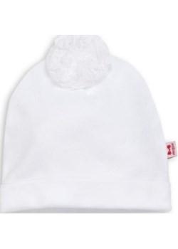 Bawełniana czapka z koronkowym pomponikiem Marija  Marija czasnabobasa.pl - kod rabatowy