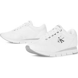 085d12030abba Buty sportowe damskie białe Calvin Klein reebok nylon sznurowane wiosenne  na płaskiej podeszwie casual