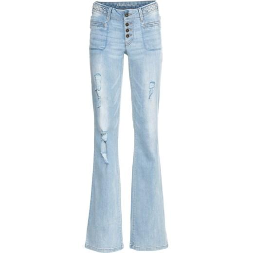 trwałe modelowanie Jeansy damskie Bonprix Odzież Damska OH niebieski Jeansy damskie CSXW