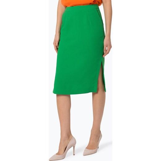 30% OBNIŻONE Spódnica Essentiel zielona mini bez wzorów