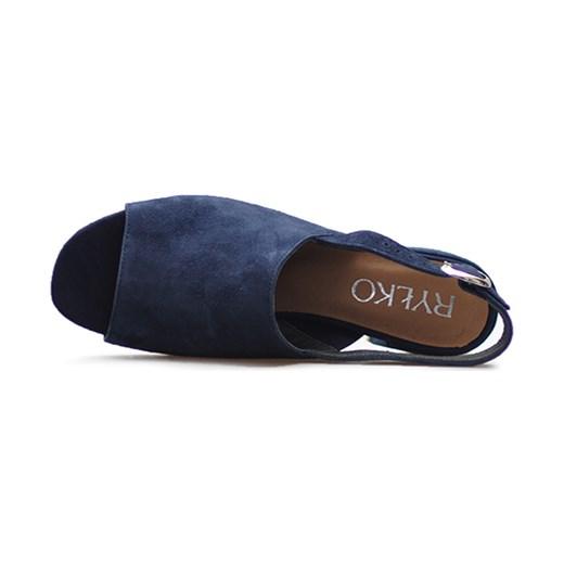 Sandały Ryłko 3MFD7_T_UR6F Granatowe zamsz