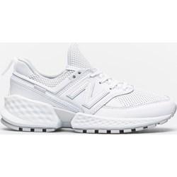 0900ef3d Buty sportowe damskie New Balance w stylu casual new 575 białe sznurowane  na płaskiej podeszwie bez