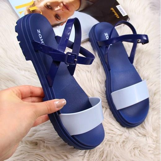 Sandały damskie Zaxy na lato z gumy w Domodi