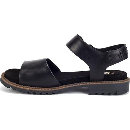 da5d6cdd8203 Clarks sandały damskie na płaskiej podeszwie casualowe z klamrą w Domodi