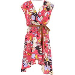 8b3df33fe1 Wielokolorowa sukienka Liu jo na sylwestra bez rękawów midi w kwiaty