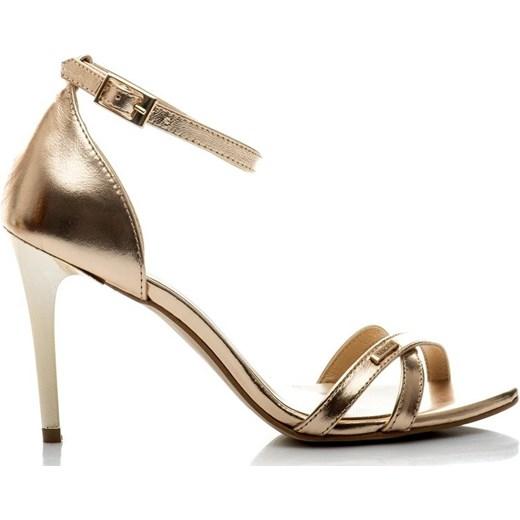 f5fdb900d67c4 Buty Neścior sandały damskie z klamrą skórzane na wysokim obcasie eleganckie