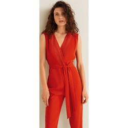 878ef2430f Kombinezon damski Mango koronkowy czerwony długi