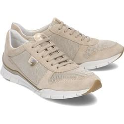 948a306d2cc3c Buty sportowe damskie Geox sneakersy młodzieżowe bez wzorów1 wiązane na  płaskiej podeszwie