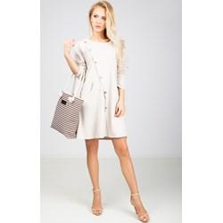 e782003c26 Sukienka Zoio gładka biznesowa luźna casual bawełniana
