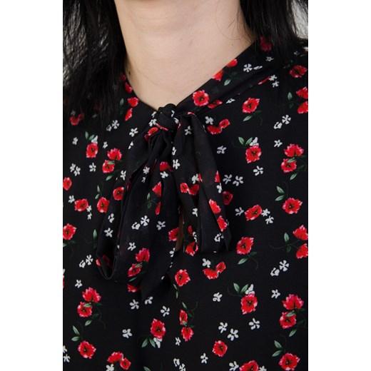 246ddd7222 Sukienka Olika w kwiaty czarna trapezowa w Domodi