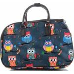 106ffdfedba6f Modne Duże torby podróżne kuferki w sowy włoskiej marki Or&Mi Multikolorowe  Morskie (kolory) -