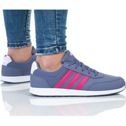 b14c0369 Niebieskie buty sportowe damskie adidas płaska podeszwa sznurówki ...