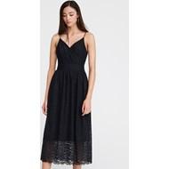 2113426aac2fa Sukienka Reserved czarna na karnawał elegancka midi