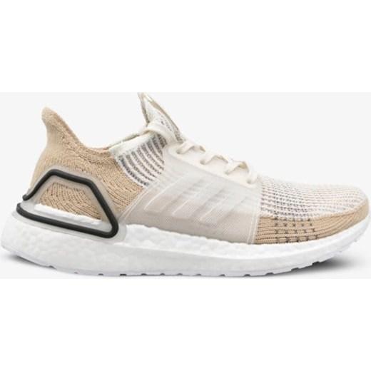 Białe buty sportowe damskie Adidas do biegania gładkie