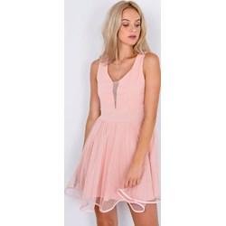 ed06752cb0 Sukienka Zoio różowa rozkloszowana tiulowa gładka mini