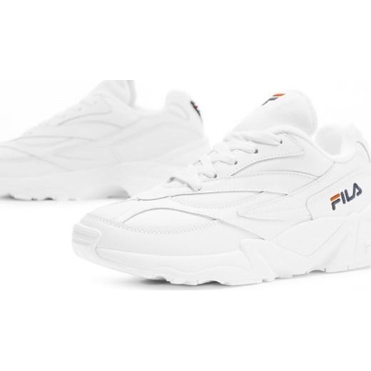 Fila buty sportowe damskie białe na wiosnę sznurowane bez wzorów