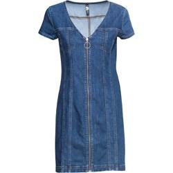 3ff67a00 Niebieska sukienka Rainbow z krótkimi rękawami na spacer casual midi