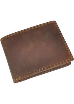 SHOT! 156 brązowy skórzany portfel   okazja daag  - kod rabatowy