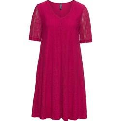 3a0669e34b Sukienka Rainbow na urodziny z krótkim rękawem dla puszystych koronkowa  casual