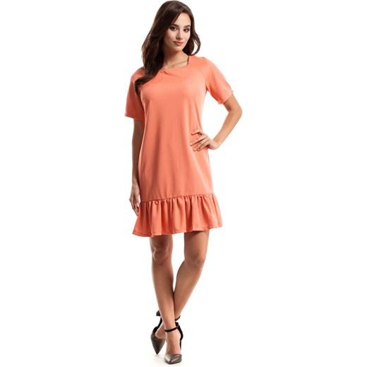 431e430b82 ... Sukienka Moe z okrągłym dekoltem z krótkim rękawem trapezowa ...