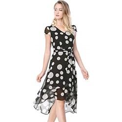 2af9c3fa5d Sukienka Allegra K kopertowa z krótkimi rękawami w groszki