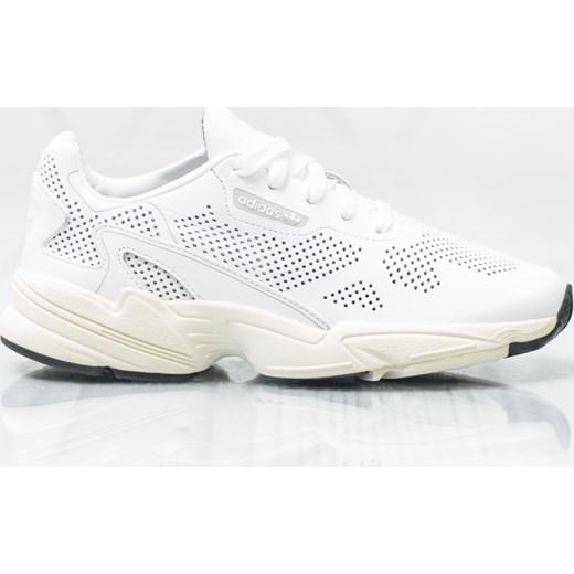 Buty sportowe damskie Adidas bez wzorÓw białe sznurowane