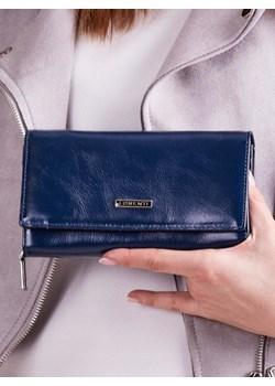 Skórzany portfel damski granatowy Lorenti Lorenti  Skorzana.com - kod rabatowy