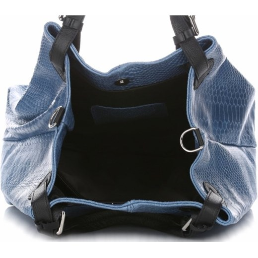 bb9096d45ed8e ... Włoskie Torebki Skórzane wzór Aligatora Niebieskie - Jeans (kolory) Vittoria  Gotti niebieski PaniTorbalska. Zobacz  Vittoria Gotti