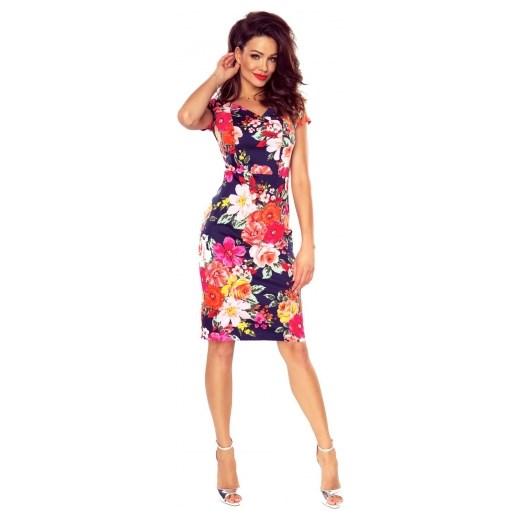 d67149e21d Dopasowana sukienka koktajlowa w kwiaty Bergamo M ptakmoda.com ...