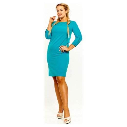 c4c4c18fd0 Sukienka Labella bez wzorów z tkaniny z długim rękawem w Domodi
