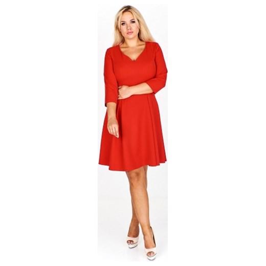 10d08efb1b Sukienka Milano Moda czerwona z długim rękawem na sylwestra w Domodi