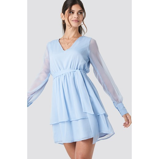 e5c493c9ee Sukienka Paola Maria X Na-kd trapezowa mini casualowa dzienna w Domodi