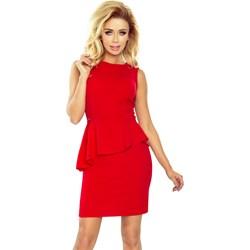 b8bae274c2 Sukienka Numoco baskinka czerwona elegancka