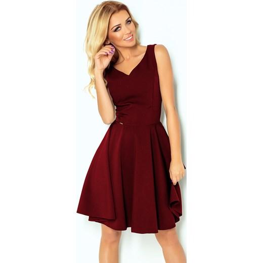 c2638e70a7 Sukienka czerwona Numoco bez wzorów w Domodi